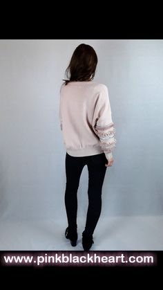 Cute pink jumper Christmas Jumpers, Pink Christmas, Pink Jumper, Colour Board, Black Heart, Online Fashion Stores, Cute Pink, Jacket Dress, Pink Black