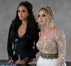In character:Shay and Ashley have played Emily Fields and Hanna Marin since the Pretty Li...