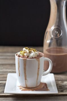 Hot Chocolate with Vanilla Bean Whipped Cream. Um, can you say yum!
