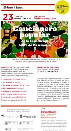 Cancionero de la ILE- Residencia de Estudiantes. Madrid