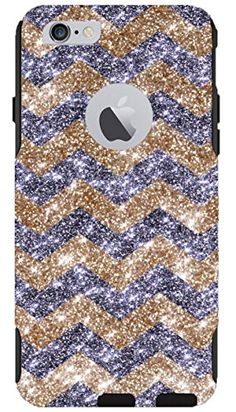 """iPhone 6 Case - OtterBox Commuter Series - Retail Packaging - 4.7"""" iPhone 6 Glitter Gold Chevron Smoke/Black:Amazon:Cell Phones & Accessories"""