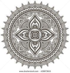 Flower Mandalas. Vintage decorative elements. Oriental pattern illustration. Islam, Arabic, Indian, turkish, pakistan, chinese, ottoman motifs