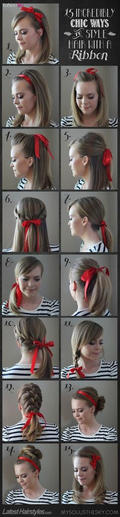 How to style your hair with ribbon