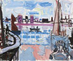 thunderstruck9: Max Gubler (Swiss, 1898-1973), Venice, Oil on canvas, 46 x 55 cm.
