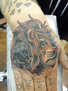 Image result for American Traditional lion Tattoos