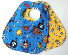 Hey, I found this really awesome Etsy listing at https://www.etsy.com/listing/167980727/baby-bibs-set-of-2-pirates-life-bibs