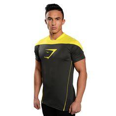 239a251d245e79 GymShark Ascendant T-Shirt- Graphite Yellow T-shirts. Mark Dale · Fitness