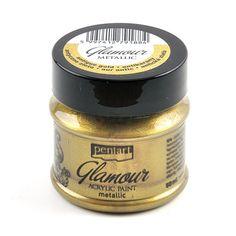 Akrylová farba, glamour, 50 ml, antická zlatá