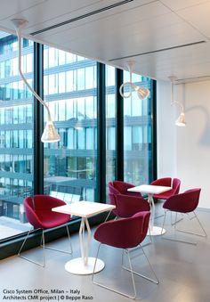 A coffee ? With #Pipe suspensions. #design Jacques Herzog & Pierre de Meuron #Office