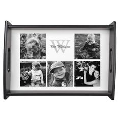 Custom Family Photo Collage Service Tray.  Click on the artist's link.