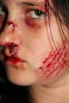 """THE FAKER SIDE SPFX MAKEUP "" Australian make up artist - Caitlyn Worland, my clever girl. Car crash victim. Fake it"