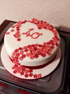 Ruby wedding anniversary cake                                                                                                                                                                                 More