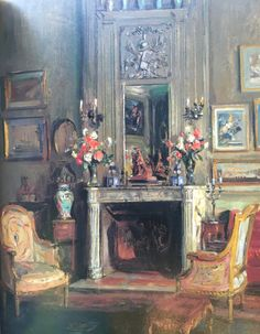 sitting room Elsie de Wolfe, made for conversation 1911, inspired by 18th C France