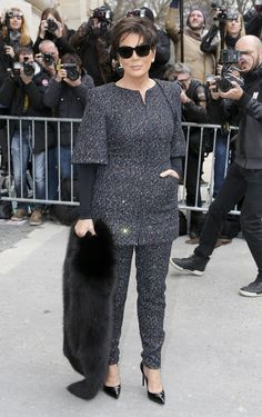 Kris Jenner At The Chanel Show In Paris
