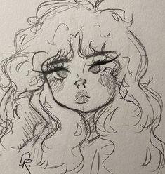 Indie Drawings, Art Drawings Sketches Simple, Drawings In Pen, Fairy Drawings, People Drawings, Random Drawings, Sketch Drawing, Anime Sketch, Sketching