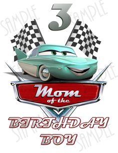 Camiseta Disney coches DIY Custom hierro en por Fantasyprintables