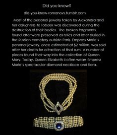 THE ROMANOVS JEWELRY ~ Actually, the jewelry acquired (or taken, as some scholars believe)  by Queen Mary from GD Xenia was not limited only by 1 tiara and 1 necklace. There were at least 7 jewelry items of unique quality and expensive price. On another opinion, Queen Mary got 1/3 of Marie Fedorovna's jewelry.