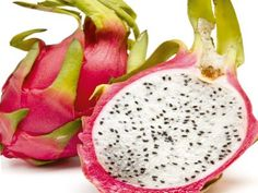 Pitaia - vinda da Colômbia, sua polpa pode ser branca ou vermelha. O sabor lembra o do kiwi.                                                                                                                                                                                 Mais