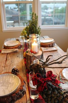 Christmas in the woods!! Love this!  (The site has a lot of winter baby shower ideas first then a few Christmas.)