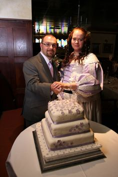 Cutting the cake - at the Prince Rupert Hotel, Shrewsbury. Thanks to Pete's Cousin Wendy for making the gorgeous cake.
