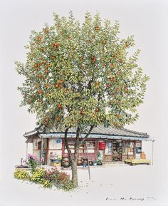 Lovely Drawings of South Korean Convenience Stores by Me Kyeoung Lee.|CutPasteStudio| Illustrations, Entertainment, beautiful,creativity, Art, Artwork, Artist, nature, Paintings, drawings,South Korea.