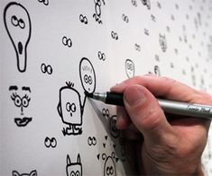 I See You Drawable Wallpaper. Paper is full of different eyes and you draw around them with markers.