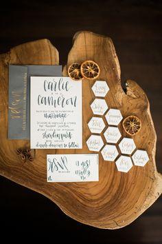 modern wedding invit
