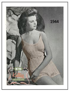 Cami-knickers 1940's Vintage Knitting Pattern  by MyVintageWish