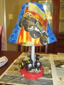 Remade Monster Jam Lamp