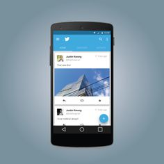 """Twitter """"Materialized"""" for Android L by Justin Kwong"""