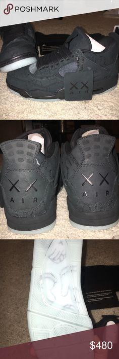 KAWS x Jordan 4 Brand new with box, tags, and KAWS bag. size 8.5. Very rare shoe Jordan Shoes