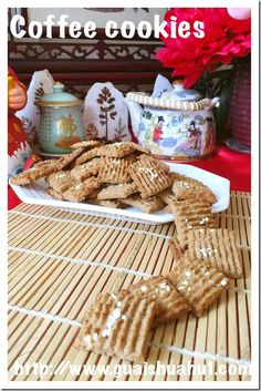 Coffee Cookies (咖啡曲奇) #guaishushu #kenneth_goh #coffee_biscuits