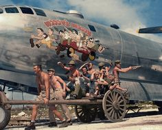 50 Color Vintage Photographs Captured Amazing Nose Art Painted on Military Aircrafts During World War II