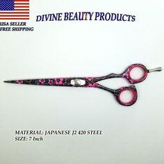 7 Inch Hair Cutting Scissors Hairdressing Shears Professional Barber Salon Sharp #DivineBeauty