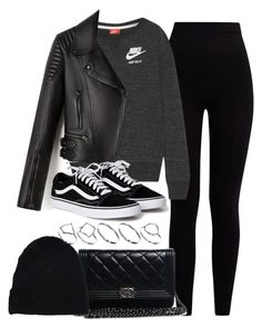 Mayne, nike, chanel, yves saint laurent and asos rock outfits, chill out Fall College Outfits, Everyday Outfits, Fall Outfits, Rock Outfits, Cute Casual Outfits, Teen Fashion, Fashion Outfits, Winter Mode, Polyvore Outfits