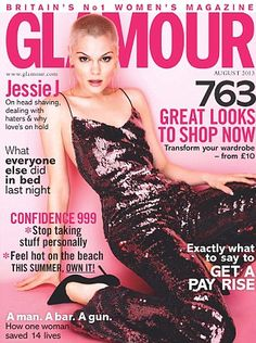 Jessie J on the cover of Glamour magazine