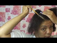 Natural Hair Protective Style Tutorial - Stuffed Twists Bun Updo - YouTube