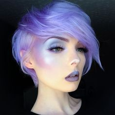 Purple & blue hair and makeup