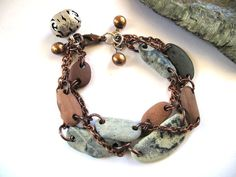 20 OFF Beach Stone Jewelry  JEWEL Bracelet by by StoneAlone, $42.50