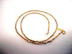 Holly Yashi Bead Crystal Necklace Gold Filled #HollyYashi #Beaded