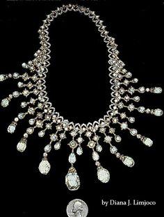 Imelda Marcos; Diamond necklace by Buccellati- 93 carats . Diamond necklace by Italian designer Buccellati. 93 cts diamonds.