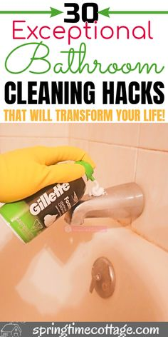 useful household hacksTips, tricks and hacks for using in your home. Household tips Household Extraordinary hacks for bathroom cleaning that change the way you clean themHere are some unusual bathroom cleaning Bathroom Cleaning Hacks, Household Cleaning Tips, Cleaning Day, Deep Cleaning Tips, Cleaning Checklist, Cleaning Recipes, House Cleaning Tips, Natural Cleaning Products, Cleaning Solutions