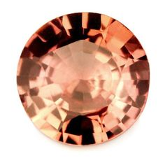 5.98 mm Certified 1.16 ct Natural Peach Sapphire