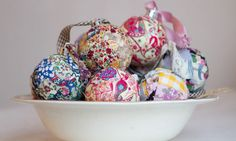 patchwork baubles Christmas