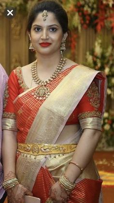 Wedding Saree Blouse Designs, Pattu Saree Blouse Designs, Half Saree Designs, Blouse Designs Silk, Indian Bridal Sarees, Indian Beauty Saree, Indian Gowns Dresses, Event Dresses, Wedding Saree Collection