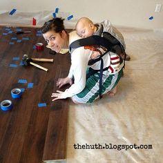 (1) Hometalk :: Laminate Floor Installation.  This seems like an honest, helpful tutorial/DIY experience.