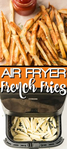 Air Fryer French Fries are so easy to make at home and these are simply the best! You can use little or no oil to make our crispy and crunchy healthy french fries! Food Recipes For Dinner, Food Recipes Deserts Air Fryer Recipes Snacks, Air Fryer Recipes Vegetarian, Air Fryer Recipes Low Carb, Air Fryer Recipes Breakfast, Air Frier Recipes, Air Fryer Dinner Recipes, Healthy Recipes, Vegetarian Food, Easy Recipes