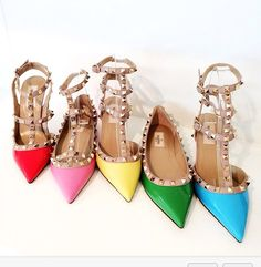 STYLE IT! I'm in love with this rainbow of VALENTINOS! From the showroom-