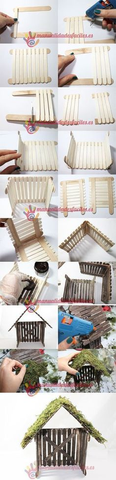 House garden kids popsicle sticks 16 Ideas for 2019 garden ideas popsicle sticks Popsicle Stick Crafts House, Popsicle Sticks, Craft Stick Crafts, Home Crafts, Diy And Crafts, Crafts For Kids, Christmas Crafts, Christmas Decorations, Fairy Furniture