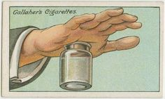 These life hacks come in cigarette cards from the last century - getting a splinter out easily!
